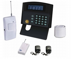 Economical wireless/wired GSM home alarm