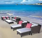 outdoor relaxation rattan sofa