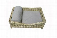 Willow Wicker Dog Bed
