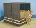 Foldable litter box hood