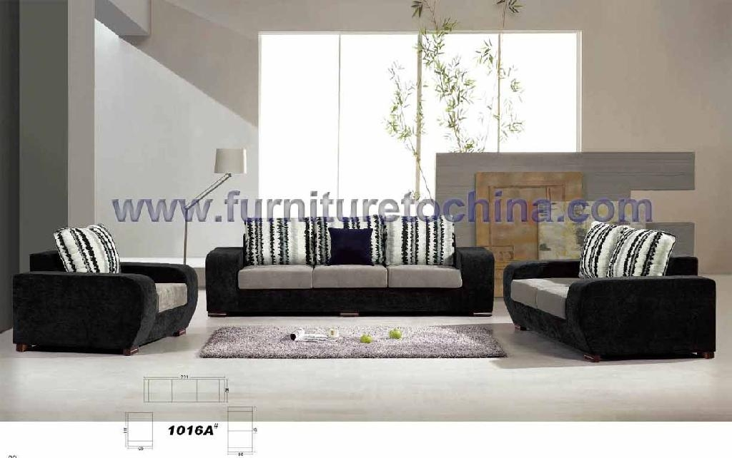 Modern fabric sofa set fs 1016a yalin furniture for Really cheap living room furniture