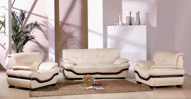 Modern leather sofa for living room upholstery sofa for Muebles de living modernos