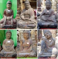 WOODEN SITTING BUDDHAS