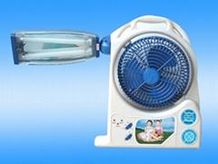 Rechargeable Fan with Emergency Lantern