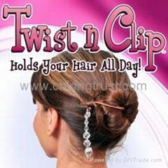 Twist N Clip Black&brown Magic Hair Clip