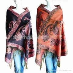 New design of jacquard shawl
