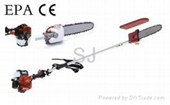 Pole chain saw
