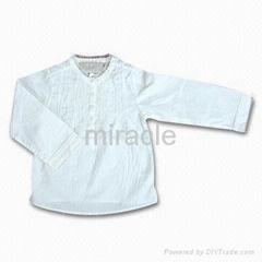 Girl's Cotton Long-sleeve Shirt