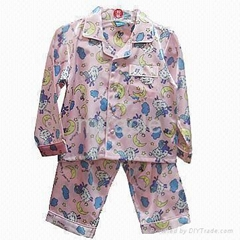Children's Pajamas Chest Pocket& Full Placket