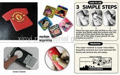 mobilephone cleaner sticker