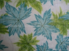 CVC Printed Fabric with Burn out Design