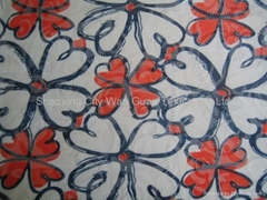CVC Printed Fabric with Burn out