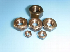 Silicon Bronze Heavy Hex Nut 3/8-16