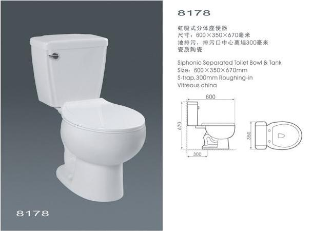 Economic s trap wc 8178 bella china manufacturer toilet accessories construction - Model deco wc ...