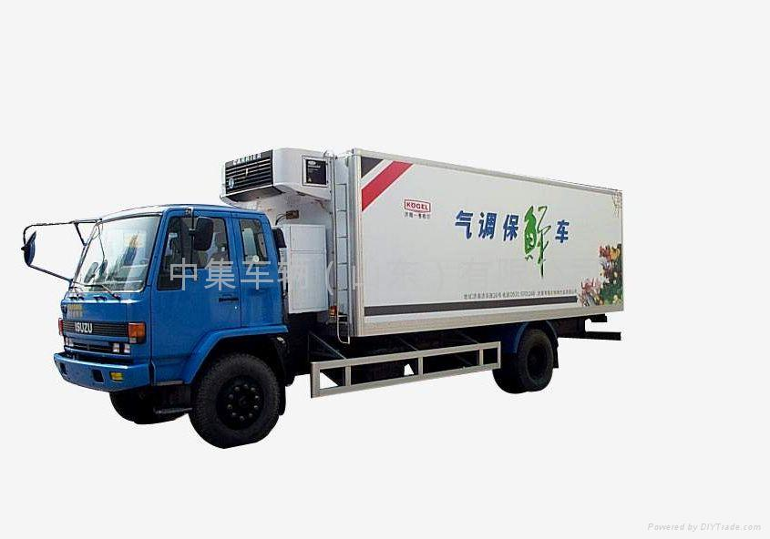 Refrigerated Truck Vehicle : Refrigerated truck jg xlc cimc kogel china