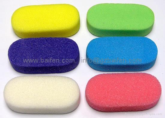 Red Pumice Stone : Pumice sponge manicure stone 、 、red baifen
