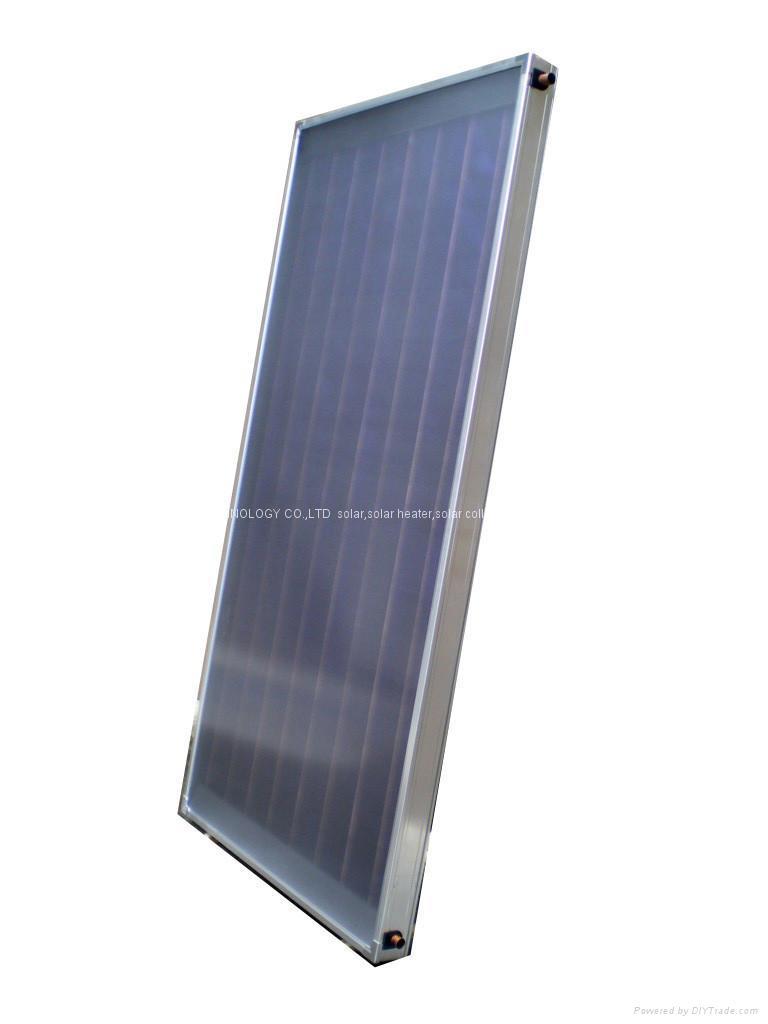 Flat plate solar collector rfe runsun china for Diy solar collector