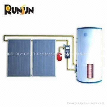 Split balcony water heater system
