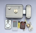 Electronic door lock/Electric lock with card key,remote,mute,automatic locking  (Hot Product - 1*)