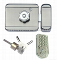 electronic door lock with keypad for public door, iron/stainless steel door