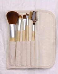 5pcs Bamboo Cosmetic Brush Set,5pcs Bamboo Makeup Brush Set