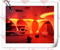大型拉膜造型燈具