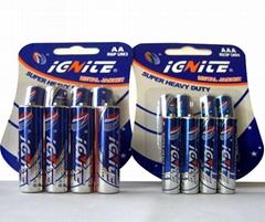 AAA carbon zinc battery