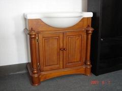 solid vanity cabinet