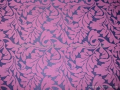 Polyester/Cotton Jacquard Fabric with Spandex