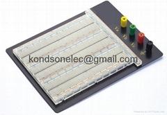 2390 tie points tranparent solderless breadboard with aluminum bottom board