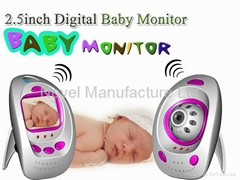 "2.5""  2.4G Wireless digital baby monitor Camera, video monitor, wireless DVR"