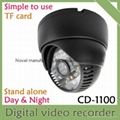 USB video camera DVR recorder with TF card VGA, DIY CCTV for house, home, office