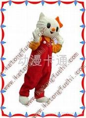 供应动漫卡通人偶服装产品/卡通服装/KT猫
