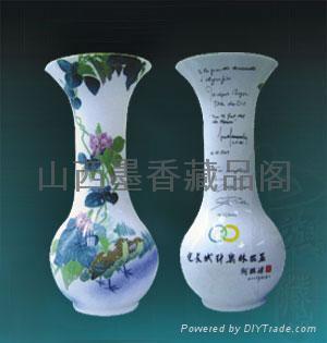 国瓷2008 扁豆双禽瓶 1
