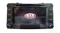 for KIA car dvd player with Steel Wheel Remote Control,OSD touch screen and gps