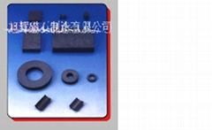 Anisotropic wet type ferrite magnet