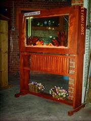 红实木系列屏风式鱼缸