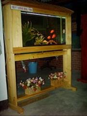 实木本色系列屏风式鱼缸