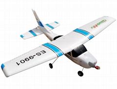 Micro 2.4G 4ch Cessna Model RC Plane Brushless EPO RTF (ES9901A)