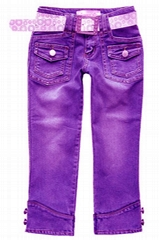 歐美時尚女裝牛仔中褲(牛仔制衣廠)