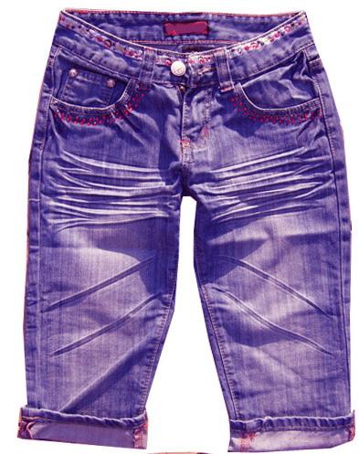 歐美時尚女裝牛仔中褲(牛仔制衣廠) 5
