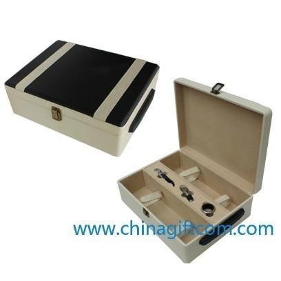 2012新款黑白高档双只皮盒 1