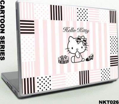 Laptop Skin-Hello Kitty designs - NKT - 3Tops (Hong Kong Manufacturer)