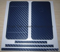 iPhone4 Skin-Carbon Fiber Skin-Deep Blue
