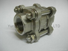 3 PIECES CHECK VALVES(全材質,無墊片)
