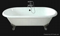 double ended roll top bathtub