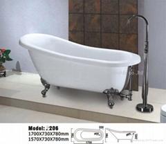 Classical acrylic bathtub