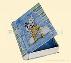 book shaped tin box