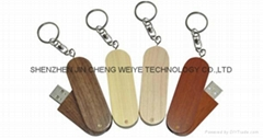 Rotate Wood or Bamboo USB Flash Drive