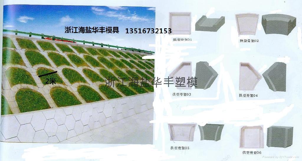 PP料注塑六角护坡塑料模具 2